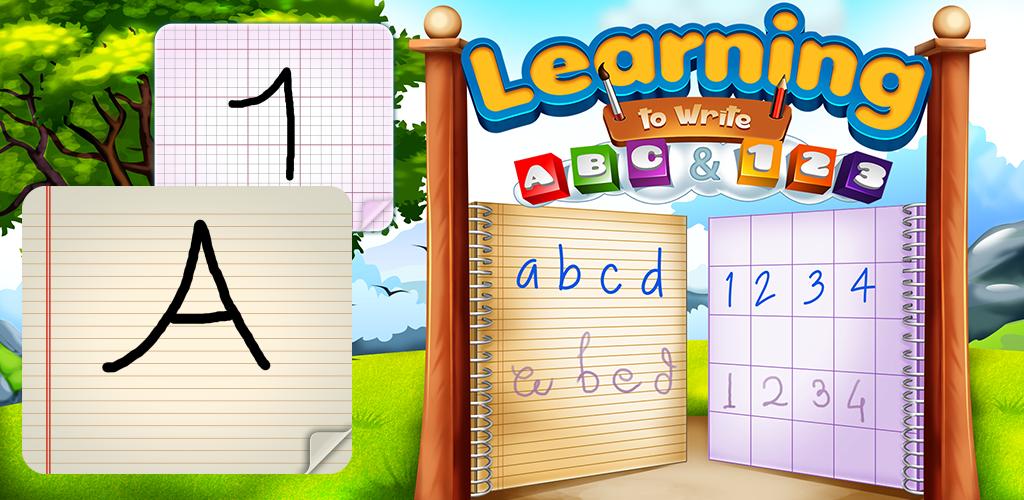Lernen ABC und 123 zu schreiben : lernen Alphabet und Zahlen zu schreiben ! Lernspiel für Kinder KOSTENLOS - 2