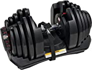 Bowflex Unisex Adult Bowflex 1090I Selecttech Adjustable Dumbbells(Single) - Black/Grey, Standard