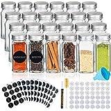 Deco Haus Set van 24 Kruidenpotjes met Schroefdeksel, Kruidenkit met Labels, Trechter, Schoonmaakborstel, Stift, Passen in On