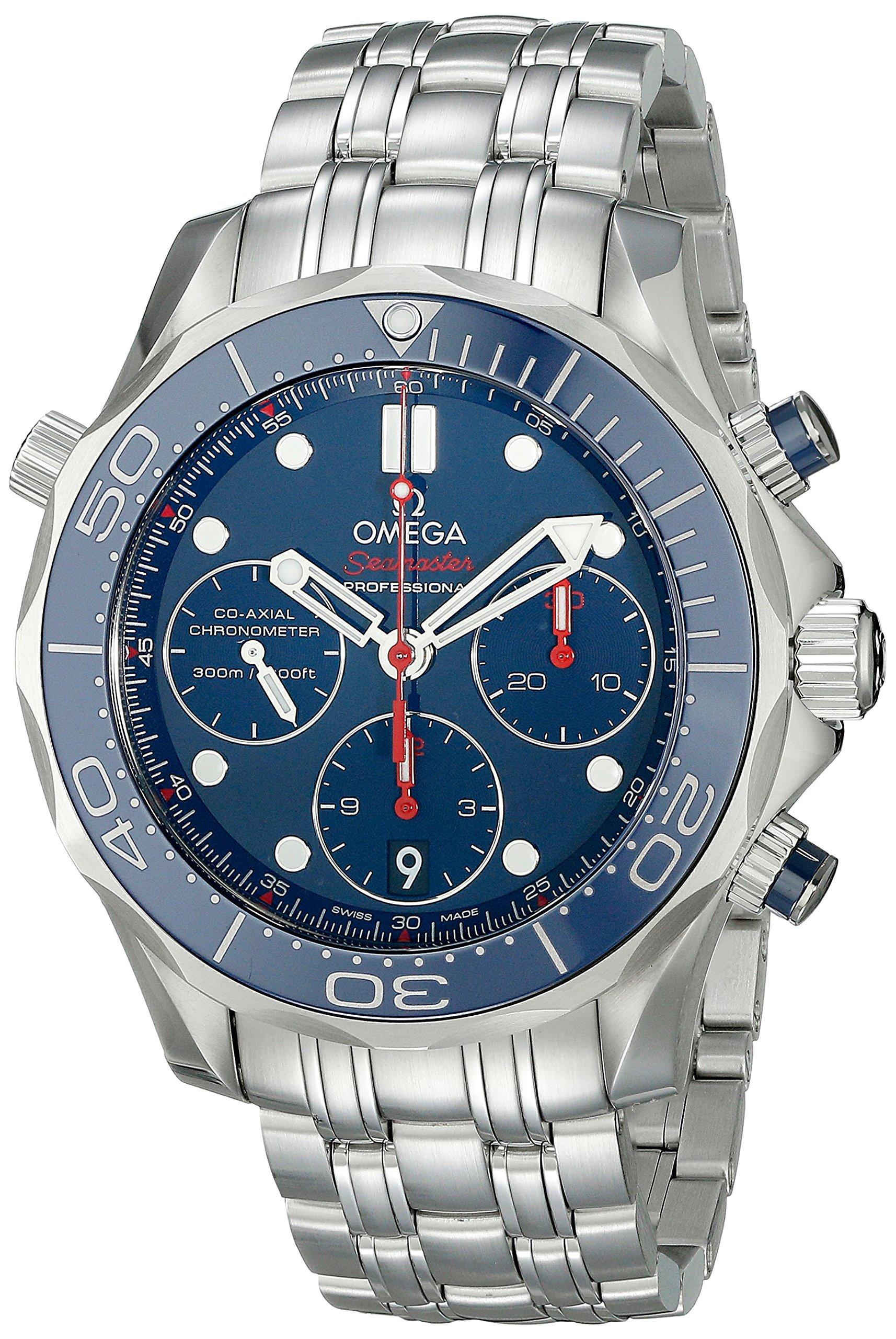 Omega de hombre 21230425003001analógico automático para hombre plateado reloj 1