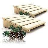 CozyNature Lot de 2 appuie-têtes / dossier pour sauna en bois de pin finlandais de qualité supérieure - Accessoires de sauna