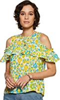 Amazon Brand - Myx Women's Floral Loose fit Top