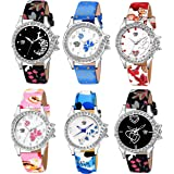 Swadesi Stuff Multi Color Analogue Watch for Women & Girls Combo of 6 Watches