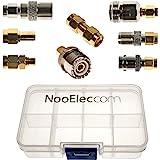 NooElec SMA Adapter Connectivity Kit - Set von 8 Adaptern für NESDR SMArt (RTL-SDR) und andere SMA Software Defined Radios mit tragbare Tragetasche