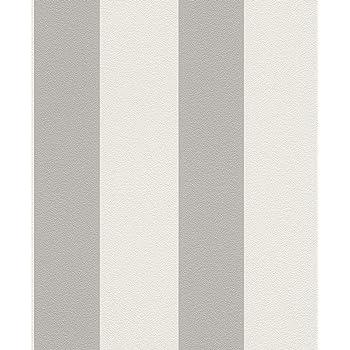 Vliestapete Streifen Gestreift Weiss Grau Tapete Rasch Prego 700251