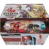 Bakugan 6059919 Lot de 4 Figurines de Collection Sabra x Pyravian Baku-Gear et Howlkor x Serpenteze Ultra