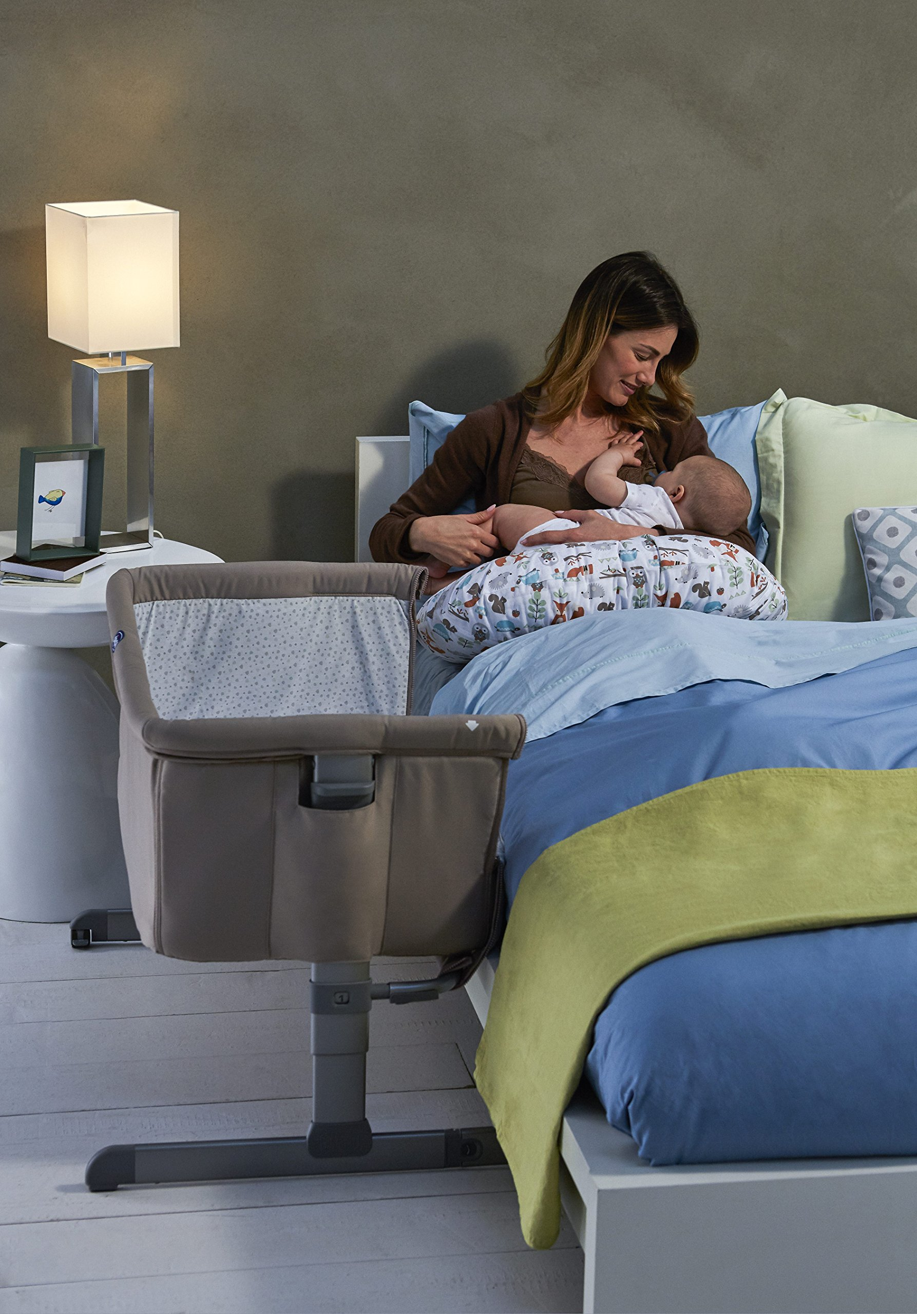 Chicco Next2me Side Sleeping Crib - Chick to Chick  Co-sleeping crib that promotes side-sleeping and allows you to sleep close to your child Can be used as a normal crib as baby grows.open size: 66/81 x 93 x 69 Uitable from birth to 6 months/9 kg or until baby can pull themselves into an upright position 3