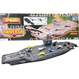 """Hunson 30"""" Aircraft Carrier with Sound Effects and 12 Fighter Jets"""