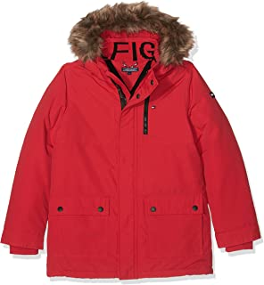 Tommy Hilfiger JAE Parka, Cappotto Bambino, Rosso (Mars Red