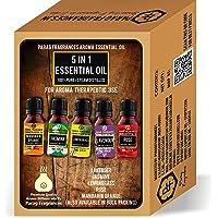Parag Fragrances Essential Oils - Lavender oil, Lemongrass oil, Jasmine oil, Mandarin oil, Rose oil (Pack of 5)