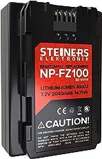 Akku für Sony NP-FZ100 - Sanyo Zellen | kompatibel mit Sony Alpha 7RIII, 7III, 7RM3, Alpha 9 | 2040 mAh | 7,2 Volt | 14,7 Wattstunden - mit Infochip!