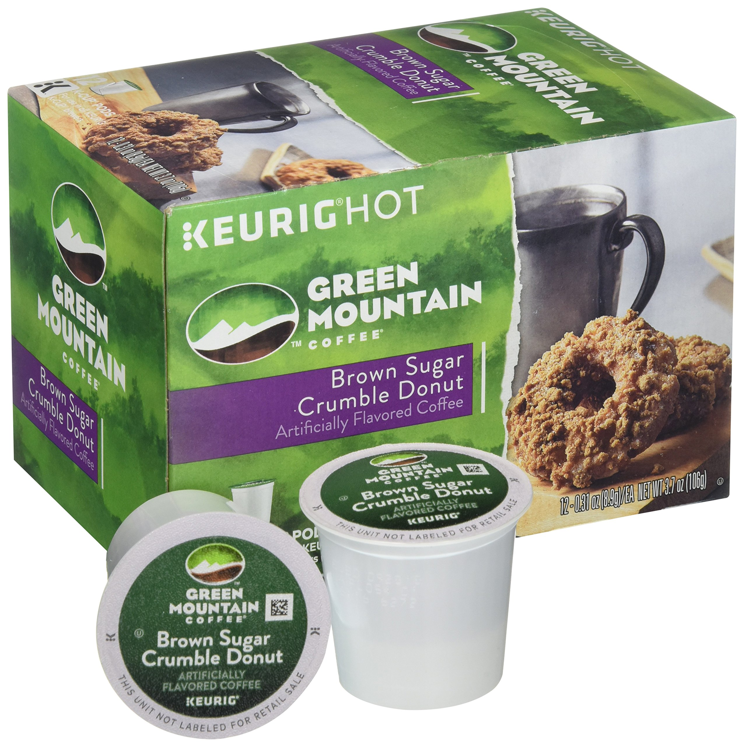 Keurig Green Mountain Coffee Roasters Brown Sugar Crumble Flavored Coffee (12 Recyclable K-Cup Pods)