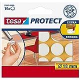 Tesa Oppervlaktebeschermers, Anti Scratch Zelfklevend Vilt Rond 18 Mm Dia, Wit (16 Pads) (Oude Versie) 18 mm Diameter/16 Pads