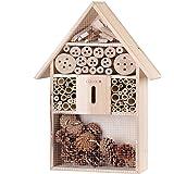 Deuba Hôtel à Insecte XXL en Bois Naturel - 48 cm x 31 cm x 10 cm - Abri Insecte Protection Hiver