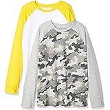Amazon Essentials 2-Pack Long-Sleeve Raglan Shirt Bambino