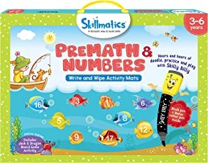 Skillmatics Educational Game Premath and Numbers, 3-6 Years