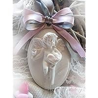 10 pz Gessetti profumati cammeo angelo,bomboniere nascita,battesimo