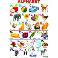 Alphabet Educational Wall Chart for Kids - Both Side Hard Laminated (Size 48 x 73 cm)