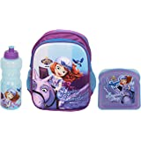 Disney Junior 3D Embossed Kids Backpack - in Disney Junior Characters (Sofia The First Combo) 14 litres