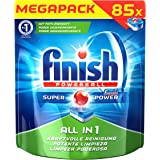 Finish All in 1 Spülmaschinentabs, Megapack, 1er Pack (1 x 85 Tabs)