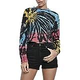 Urban Classics Sweatshirt Ladies Tie Dye Cropped Crewneck Pullover Maglione Donna