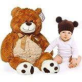 Pink Papaya Riesen-Teddy Paul, 80cm XXL Plüschbär in Hellbraun – EIN XXL Teddybär zum Liebhaben Toys …