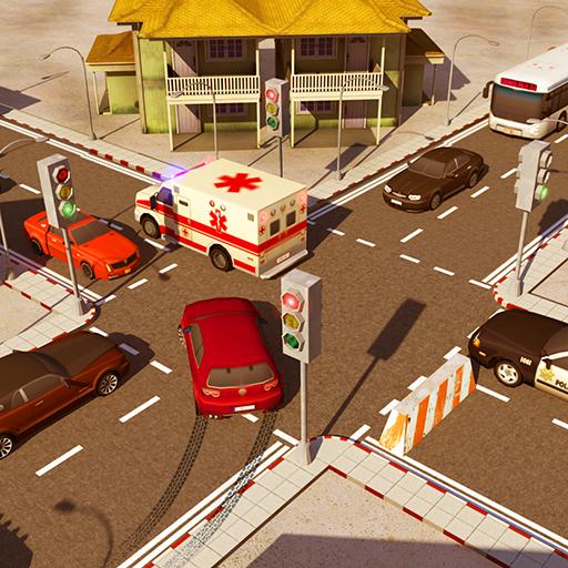 Stadt Der Verkehr Steuerung Simulator 2018: Verkehr Spuren Eilen Schnittpunkt Regler Spiele für Frei -
