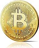 innoGadgets médaille physique Bitcoin recouverte d'or véritable 24 carats. Objet de collection avec housse de protection…