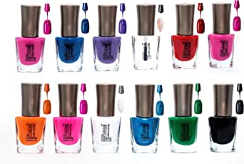 Forfor Trendy Colors Nail Enamels - Combo Of 12 Pcs (Disco)