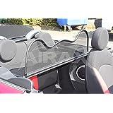 noir pour Mini Cabriolet R52//R57 D/éflecteur dair D/éflecteur de vent pliable avec fermeture rapide 2004-2016   Filet Anti-Remous Coupe