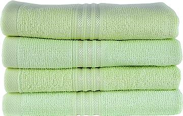 Towel Town Ecospun 4 Piece 400 GSM Cotton Hand Towels - Green