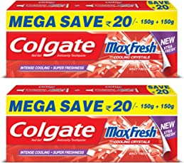 Colgate Maxfresh Spicy Fresh Red Gel Toothpaste - 300 g (Pack of 2)