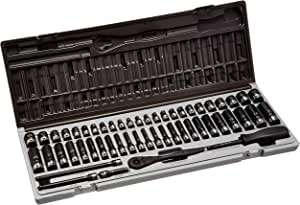 89653CRD Grey Pneumatic 1//4 Drive 53-Piece 6-Point Fractional and Metric Duo Socket Set