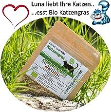 SiS Successfulldeas - SOLUTIONS - Lunas Bio Katzengrassamen ♥ - 1 Beutel mit 30g Saatmischung für ca. 15 Töpfe fertiges Katzengras in wiederverschliessbarem Beutel