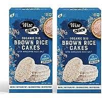 Wise Crack Organic Rice Cakes - Brown Rice, 105g x 2 | Gluten free, No transfat, No oil, No cholestrol |