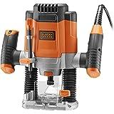 BLACK+DECKER KW1200EKA-QS Defonceuse filaire 1200W, Orange, 13 Accessoires