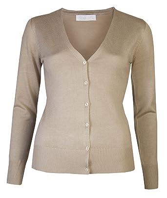 Womens Cardigans Ladies V Neckon Cardigan Plain Fine Knit Sweater By Brody Co Winter Cardi Amazon Co Uk Clothing