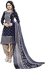 Sukh Creations latest design punjabi patiyala salwar suits cotton material for women -Blue