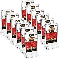 Kurtzy Présentoir de Table (12 Pièces) - A6 Présentoir Vertical de avec Base Plate - Porte-Brochures Plastique…