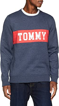 Tommy Jeans Men's Panel Logo Crew Neck Sweatshirt