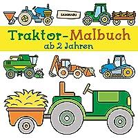 Traktor-Malbuch ab 2 Jahren: Fahrzeuge auf dem Bauernhof zum Ausmalen, Kritzeln und Entdecken