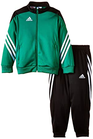black and green adidas tracksuit