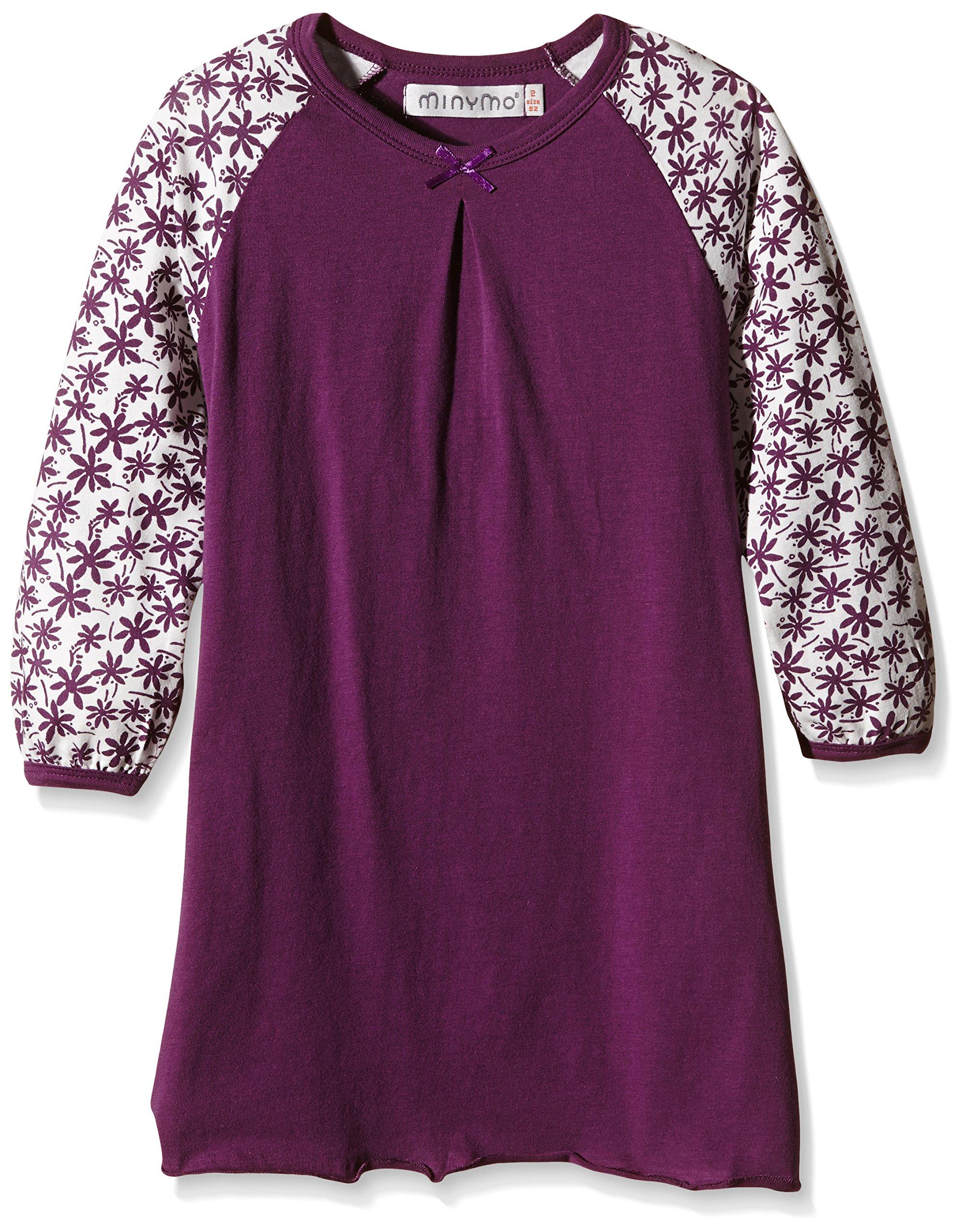 Minymo Chen 67-Nightdress Ls, Pigiama Bambina, Purple Passion, 24 Mesi