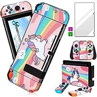 Darrnew - Adesivo per Nintendo Switch, motivo: unicorno, colore: Rosa