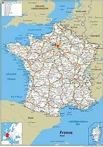 Cartina Francia Sud Dettagliata.Francia Cartina Geografica