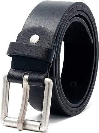 "Ossi Mens 38mm Smart Casual Jeans Black Belt Size 28"" - 60"" (Small - 5XL)"