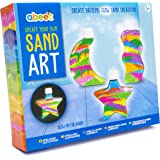 abeec Make Your Own Sand Art - Sand Art Kit for Kids - Glow in the Dark Sand and Glitter Sand to Create 3 Bottled Sand…