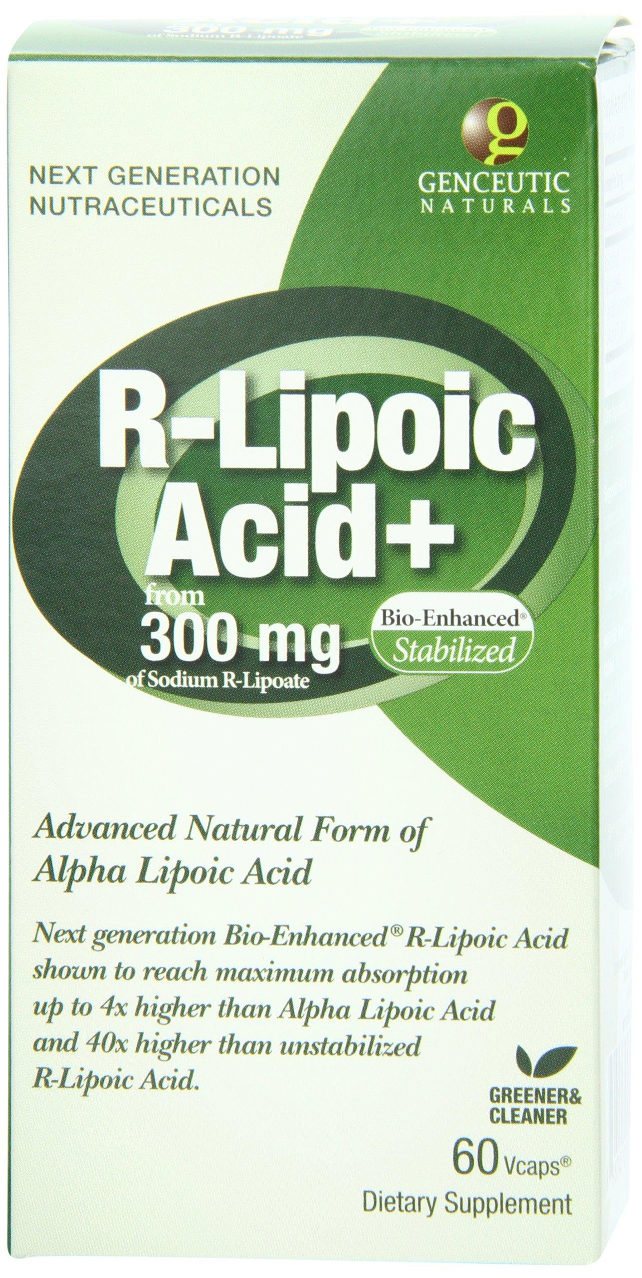 91mAVlZh6NL - Genceutic Naturals R-Lipoic Acid 300 Mg, 60-Count