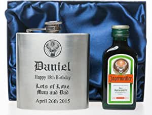 Jagermeister Jager Silver Flask New!!