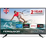 Ferguson F43RTS 43 inch Smart Full HD LED TV with streaming apps and catch up TV built-in | Made in the UK